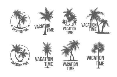 8 Tropical Palm logo illustration