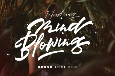 Mind Blowing 3 Brush Font Set
