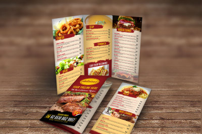 Restaurant Menu Tri Fold