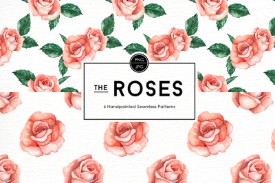 Rose Flowers Seamless Patterns