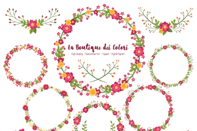 Mother's Day Floral Wreath Clipart