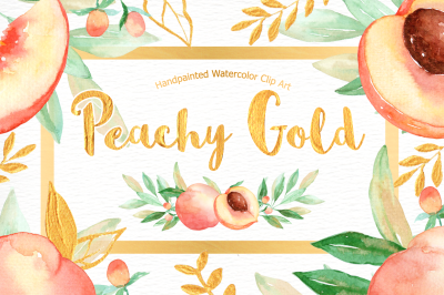 Peachy Gold Flower Clipart