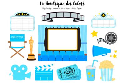 Blue Cinema Clipart