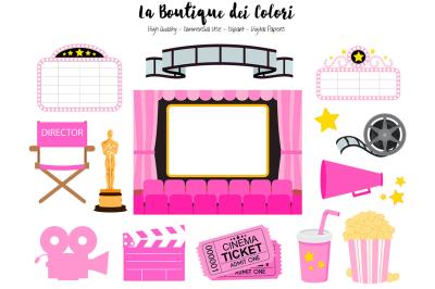 Pink Cinema Clipart