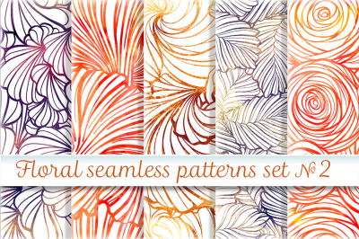 Floral seamless patterns set #2