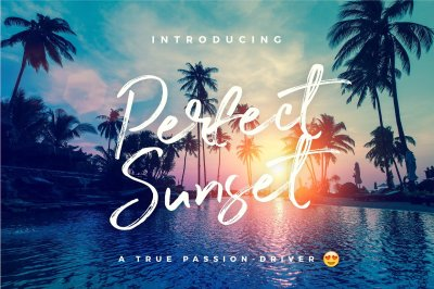 Perfect Sunset Typeface