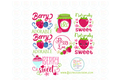 Berry Sweet Strawberry Bundle SVG, DXF, EPS design