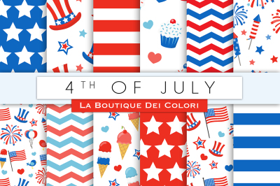 4th of July Digital Papers