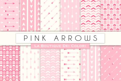 Pink Arrow Digital Papers