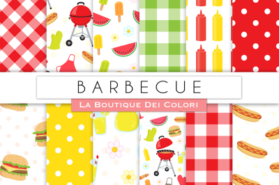 Barbecue Digital Papers