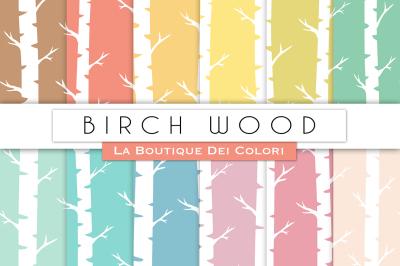 Birch Wood Digital Papers