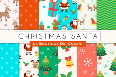 Christmas Santa Digital Papers