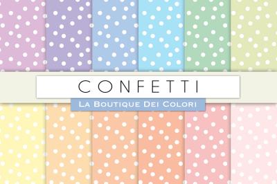 Pastel Confetti Digital Papers