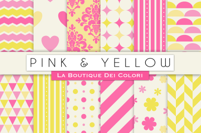 Pink and Yellow Digital Papers