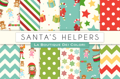 Santa's Helpers Digital Papers