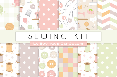 Sewing Kit Digital Papers