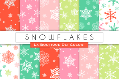 Christmas Snowflake Digital Papers