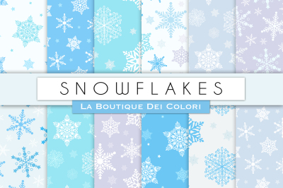 Winter Snowflake Digital Papers