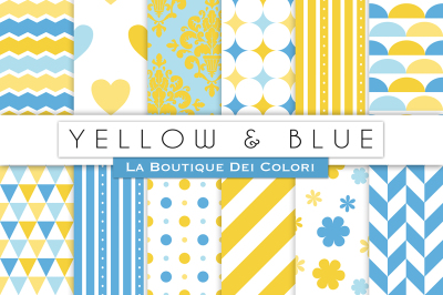 Yellow and Blue Digital Papers
