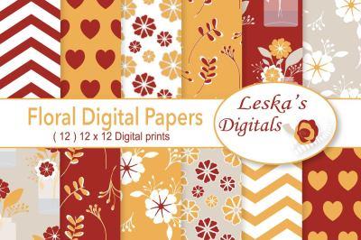 Floral Autumn Digital Paper