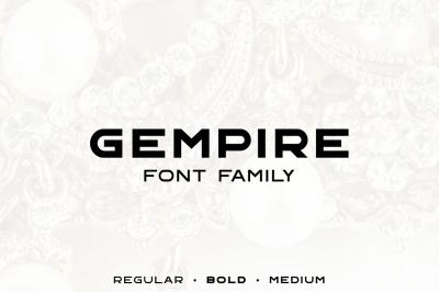 Gempire Font Family