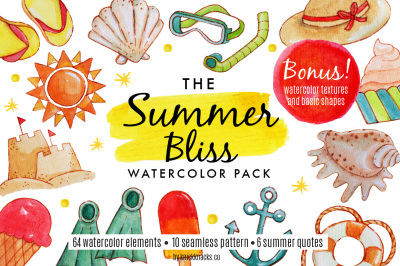 The Summer Bliss Watercolor Pack