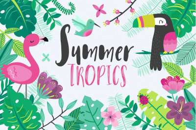Tropical Summer Vector Set