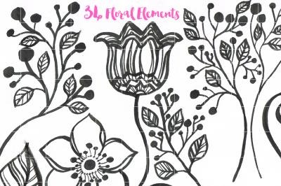 Flower Floral Clipart Scrapbook