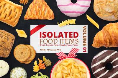 Isolated Food Items Vol.1