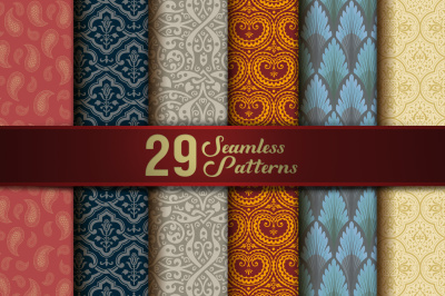 Floral Seamless Patterns Vintage Decor
