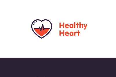 Heart Logo design vector template. Healthy heart badge. Cardiology Medical label. Flat style