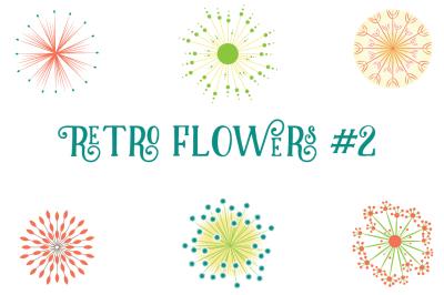 Retro Atomic Flowers (PNG & JPEG)