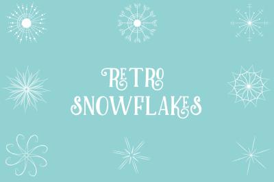 Retro Snowflakes (PNG & JPEG)