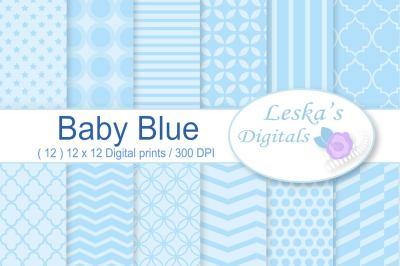 Baby Boy Blue Pastel Digital Paper