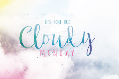 Cloudy Monday Font Duo