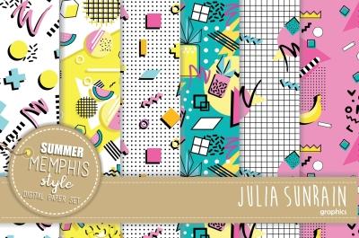 Memphis Summer Style Digital Paper/Pattern