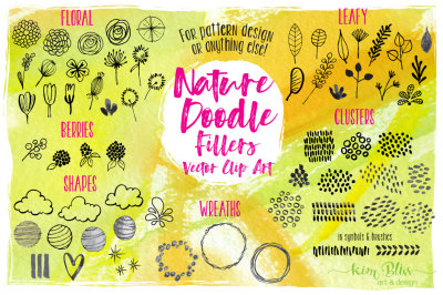 Vector Nature Doodle Clip Art