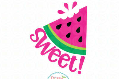 Sweet watermelon SVG EPS DXF PNG - cutting file