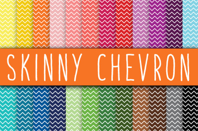 Skinny Chevron Digital Paper