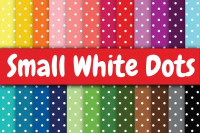 Small White Dots Digital Paper