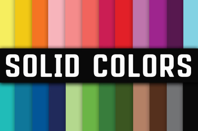 Solid Colors Digital Papers