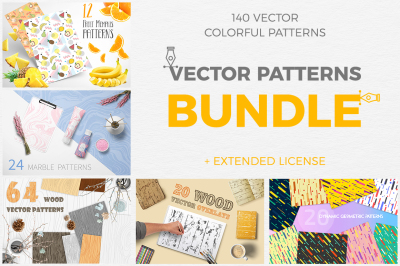 Great Vector Patterns Bundle 5 in 1