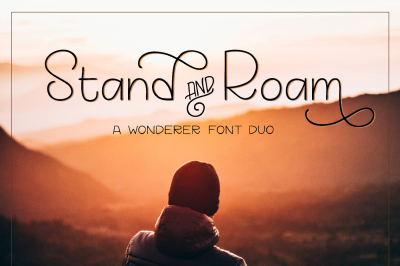 Stand and Roam font duo