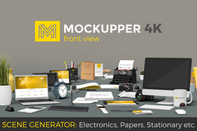 Mockupper scene generator FRONT view