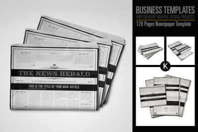 128 Pages Newspaper Template