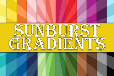 Sunburst Gradients Digital Paper
