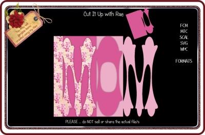 049 Mom Mum Word Card Multiple MACHINE Formats
