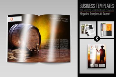 Magazine Template A4 Portrait