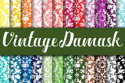 Vintage Damask Digital Papers