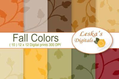 Fall Colors - Seamless Patterns